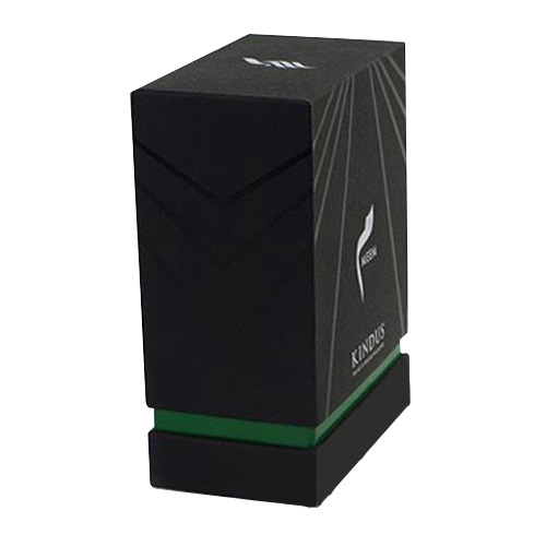 black cardboard luxury perfume box