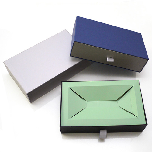 Cardboard sliding gift drawer box packaging (2)